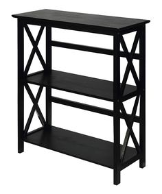 Casual Home Montego Black Wood Bookcase at Lowe's. Storage with ease, this x-design style bookcase is constructed with solid wood for lasting use. 2 Shelf Bookcase, Bookcase Organization, Etagere Bookcase, Wood Shelves, Bookcases, Storage Shelves, Shelf Display, Storage Rack, Bedroom Bookcase