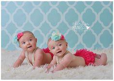 Harper & Hadleigh – 6 month old twins sneak peek | Baton Rouge Baby Photographer