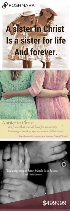 PLEASE PRAY FOR THOSE IN NEED I have met some wonderful ladies of faith here on Poshmark, and many who come to this listing in need of prayer.. So many ladies have joined in to lift up prayer for so many and I'm so thankful.. Like this listing if you want to be included in my prayer chain tag list.. Prayer in numbers is so powerful.. MAY GOD ALWAYS BLESS YOU FOR LIFTING UP OTHERS Other