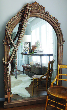 Creative Co-Op Chateau Mirror Large Framed Mirrors, Gold Framed Mirror, French Mirror, Sunburst Mirror, Wall Mirror, Floor Mirrors, Leaning Mirror, Round Mirrors, Painted Cottage