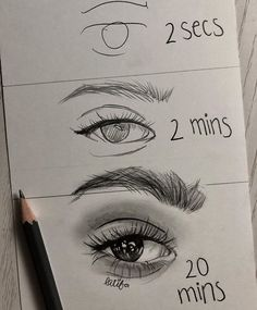 And I can't even draw the 2 secs eye ? - And I can't even draw the Amazing Drawings, Easy Drawings, Amazing Art, Pencil Art Drawings, Art Drawings Sketches, Disney Drawings, Drawing Techniques, Drawing Tips, Drawing Ideas