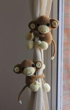 amigurumis, muñecos tejidos al crochet mono