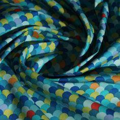 OFFRE French Terry-sommersweat 2 x 25 x 150 bandes de moutarde et bleu foncé