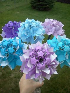 Origami hydranges by Dancusa, via Flickr