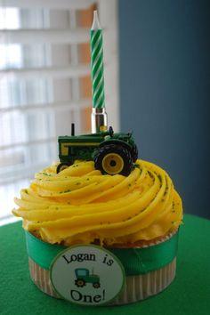 Logan's 1st Birthday - John Deere/Farm Theme (cake)
