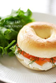 bagel w/salmon, dill & cream cheese....perfection!