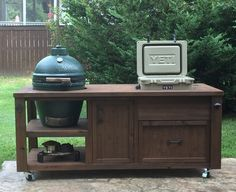 Green Egg Grill Do Joe Table Eggs Grilling