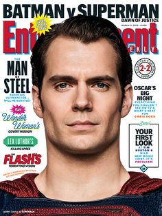 #Batman and #Superman are ready to face off in the ultimate superhero showdown. We have your inside look at #BatmanvSuperman in our super special issue.   Photo credit: Clay Enos