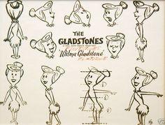 Hanna-Barberas The Flintstones - Character Design Page