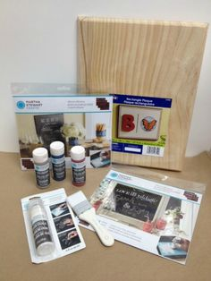 How to Create a Chalkboard using Martha Stewart Crafts Chalkboard Paints