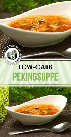 Die low-carb Pekingsuppe ist super lecker, einfach gemacht und schmeckt als Vor-. The low-carb Beijing soup is super tasty, easy to make and tastes great as a starter and main course. Easy Soup Recipes, Easy Dinner Recipes, Diet Recipes, Low Carb Recipes, Healthy Recipes, Tilapia Recipes, Zoodle Recipes, Coconut Recipes, Salmon Recipes