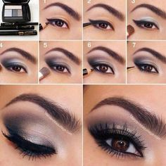 Sparkly Silver Smoky Eye Makeup Tutorial