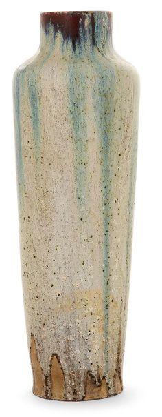 Émile DECOEUR (1876-1953) Vase ovoïde en porcelaine