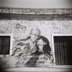 josé saramago with her love, pilar.