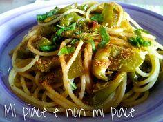 Spaghetti con Peperoni Friggitelli e Acciughe