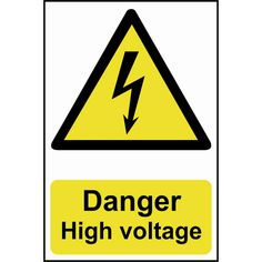 Scan Danger High Voltage Sign 200mm 300mm Standard: This Scan Hazard sign is made from 1mm thick,… #AutoParts #CarParts #Cars #Automobiles
