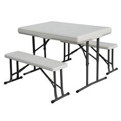 Stansport Heavy Duty Picnic Table and Bench Set #ad Camping Picnic Table, Picnic Table Bench, Folding Picnic Table, Camping Chair, Table With Bench Seat, Table And Chairs, Chair Bench, Dining Chairs, Table Lamp