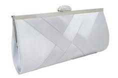 BF4393- Bolsa de festa clutch Pagani - PRATA