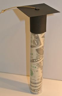 Graduation tube...you can do this by using an empty candy tube.