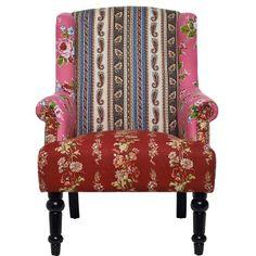 """Blumige Muster, Streifen, feminine Farben, üppige Polster, gedrechselte bzw. geschwungene Beine, geknöpfte Rückenlehnen oder - je nach Modell - sichtbare Nieten: Die Patch-Stühle und -Sessel starten eine fröhliche Charme-Offensive, denen sich Frau kaum entziehen kann. Und um """"Ihr"""" die Qual der Wahl ein wenig zu erleichtern: Verschiedene Sitzmöbel dieser Serie können auch kreativ miteinander kombiniert werden."""