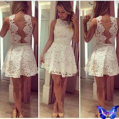 lace Prom Dress,short Prom Dress,white Prom Dress,homecoming dress for Dresses Elegant, Pretty Dresses, Sexy Dresses, Girls Dresses, Prom Dresses, Formal Dresses, Dresses 2016, Cheap Dresses, Dress Prom