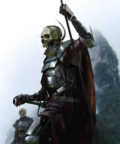 ArtStation - Skullman, by Damian Audino More concept art here. High Fantasy, Dark Fantasy Art, Fantasy Rpg, Medieval Fantasy, Fantasy Figures, Fantasy Characters, Gothic Horror, Horror Art, Dungeons And Dragons