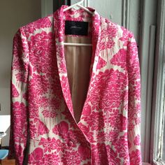 NEW Rachel Comey Mulberry blazer pink silk linen 8 Brand new and in season fully lined silk and linen jacket with slight flare at waist. Retailed for $555. New but tags were removed at purchase. Rachel Comey Jackets & Coats Blazers