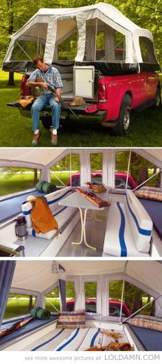 Cool truck tent. Need for the beach with @Katie Schmeltzer Hewitson