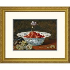 Global Gallery 'Strawberries With a Carnation' by Frans Snyders Framed Painting Print Size: