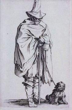 A Blind Man with a Dog  L'Aveugle et son chien  1622  Jacques Callot, French, 1592–1635