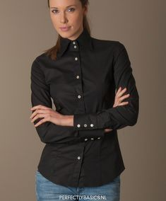 High Collar Blouse, Popped Collar, Blouse Outfit, Business Outfits, Sexy Outfits, Business Women, Button Up, Collars, Woman Shirt
