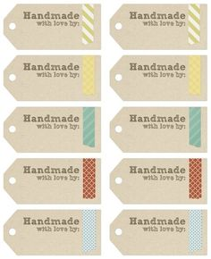 Gift Wrapping Guide: Free Printable Tags and Labels For Your Homemade Gifts - Apartment Therapy