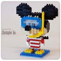Mickey going snorkling Nanoblock