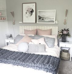 15 pastel bedroom decoration ideas that you will want to copy Pastel Room Decor, Pastel Bedroom, White Bedroom, White Bedding, Trendy Bedroom, Modern Bedroom, Design Your Own Bedroom, College Living Rooms, Apartment Living