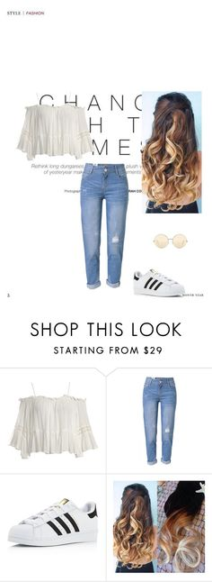 """""""Change with the times"""" by xana-1994 on Polyvore featuring Sans Souci, WithChic, adidas and Victoria Beckham"""