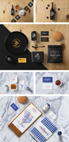 Burger Bar Stationery Mockup templates based on professional photos. Perfect for restaurant branding projects, food packaging, and website designs.