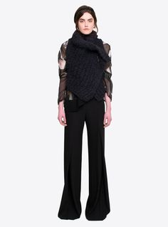 alpaca silk hand knit wrap waistcoat ann demeulemeester women