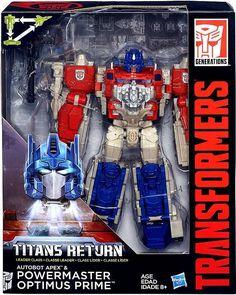 Transformers Generations Titans Return Autobot Apex & Powermaster Optimus Prime Leader Action Figure