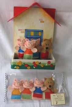 Dedoches 3 Porquinhos | Dedoches 3 Porquinhos, contendo 4 pe… | Flickr