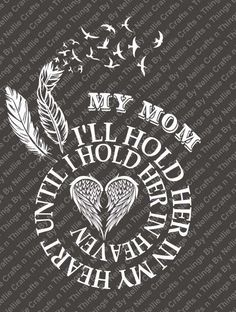 Spiral In Memory- MOM SVG by CraftsnThingsByNelly on Etsy
