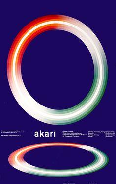 Josef Muller-Brockmann Poster: Akari (Lamp Exhibit)