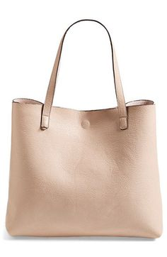 Street Level Reversible Vegan Leather Tote & Wristlet $48.00 Item #935495 at #Nordstrom