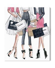 Oliver Gal, Fashion Illustration Chanel, Fashion Illustrations, Design Illustrations, Mode Poster, Chanel Art, Coco Chanel, Chanel Wall Art, Girly