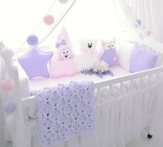 Бортики в кроватку. Декоративные подушки. Baby. Подушка облачко, звезда, заяц, сердце, луна, мишка, кот. Коса. Плед. Decoration, Toddler Bed, Design Ideas, Furniture, Home Decor, Pillowcases, Hobby Lobby Bedroom, Decor, Child Bed
