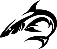 Tribal Shark Tattoo | Isolated Stock Photo by noBACKS.com