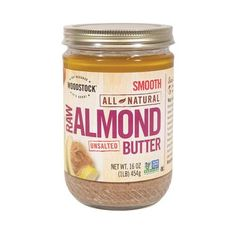 Woodstock Natural Almond Butter Raw (12x16oz)
