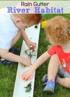 Learn about the river habitat with this hands-on preschool science activity!