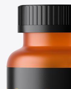 Frosted Orange Pills Bottle Mockup