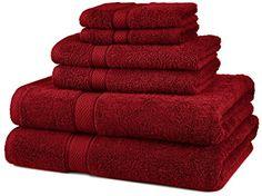 Pinzon Egyptian Cotton 6-Piece Towel Set, Cranberry Pinzon by Amazon.com http://www.amazon.com/dp/B007K6SO82/ref=cm_sw_r_pi_dp_rCZFvb1DH3K2Q