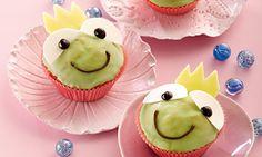 Froschkönig-Muffins für Kinder Rezept: Lockere Muffins mit Zuckerguss für Kinder - Eins von 5.000 leckeren, gelingsicheren Rezepten von Dr. Oetker!